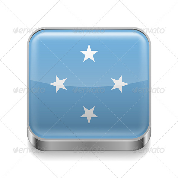 GraphicRiver Metal Icon of Micronesia 7502161