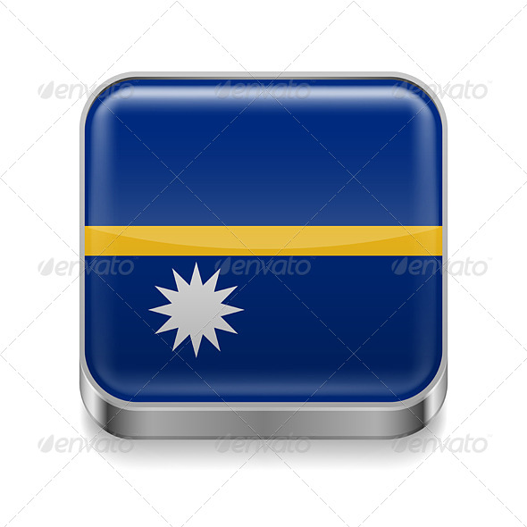 GraphicRiver Metal Icon of Nauru 7502167