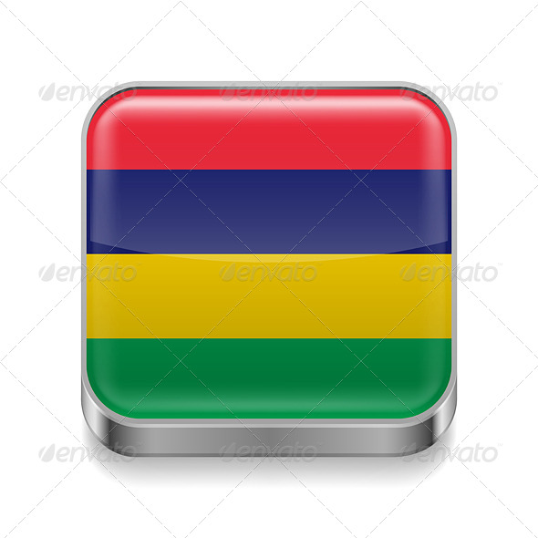 GraphicRiver Metal Icon of Mauritius 7502169