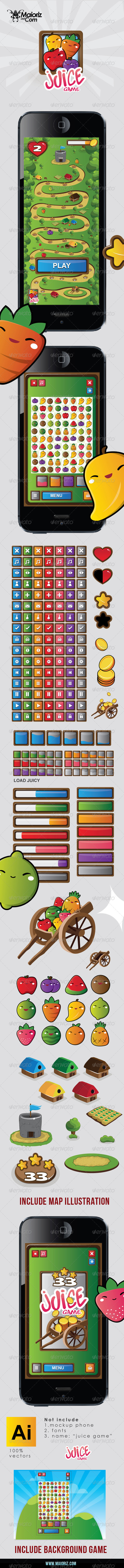 GraphicRiver Juice Game UI 7502082