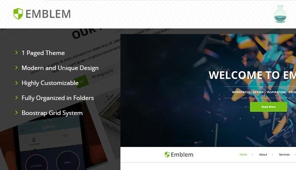 ThemeForest Emblem One-Page Template 7386813