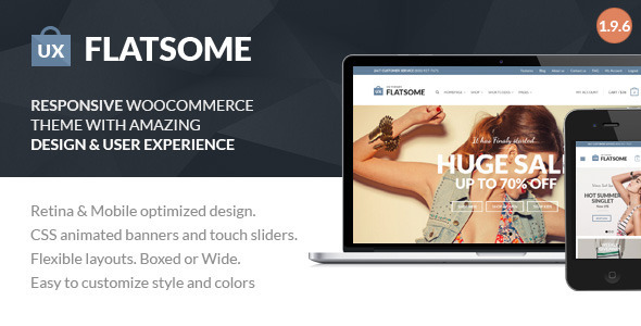 plantillas ecommerce moda Flat Responsive WooCommerce Theme - WooCommerce eCommerce