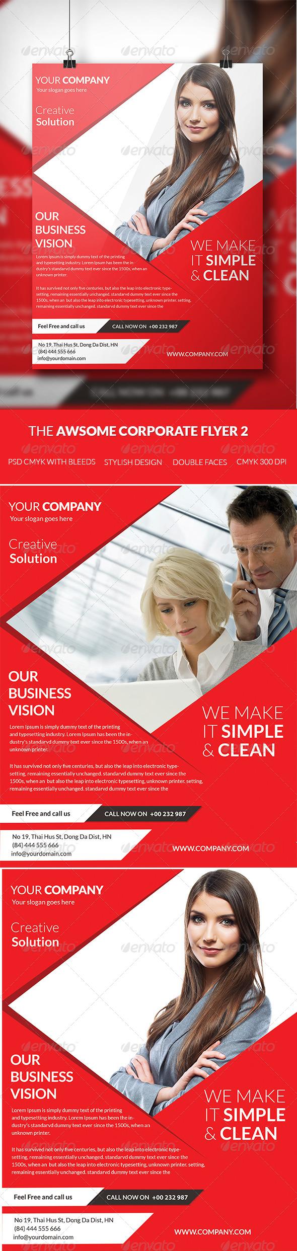 GraphicRiver The Awsome Corporate Flyer Template 2 7502783