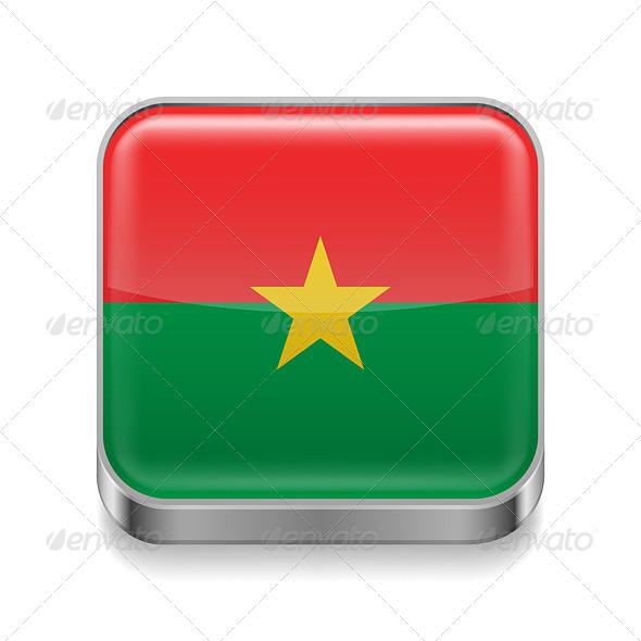 GraphicRiver Metal Icon of Burkina Faso 7502904