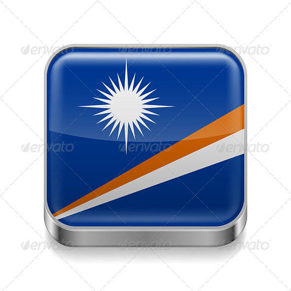 GraphicRiver Metal Icon of Marshall Islands 7502905