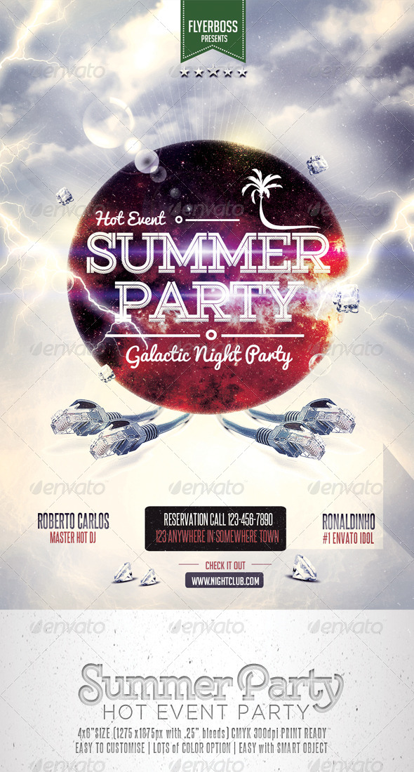 GraphicRiver Summer Party Flyer 7481516