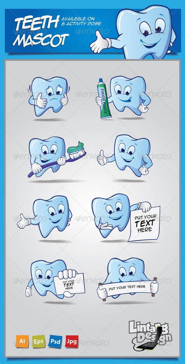 GraphicRiver Teeth Mascot 7486115