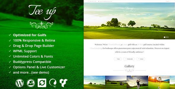 ThemeForest Tee Up Elegant Golf Wordpress Theme 7440118