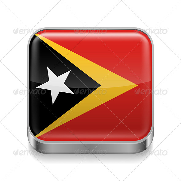 GraphicRiver Metal Icon of East Timor 7503027