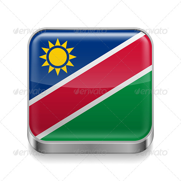 GraphicRiver Metal Icon of Namibia 7503029