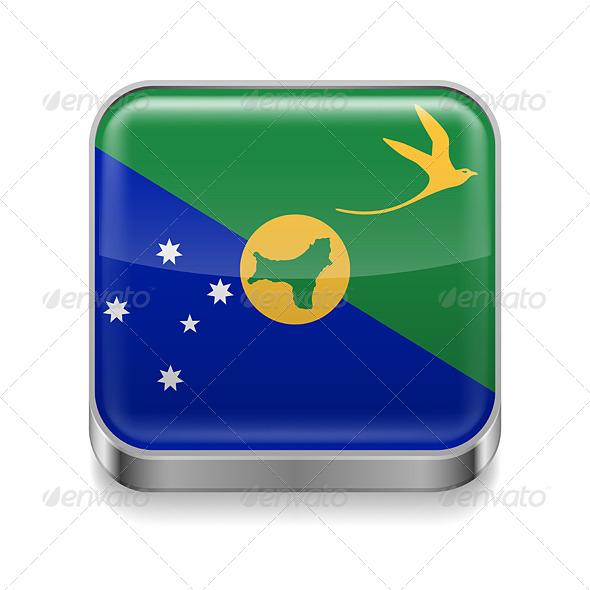 GraphicRiver Metal Icon of Christmas Island 7503035