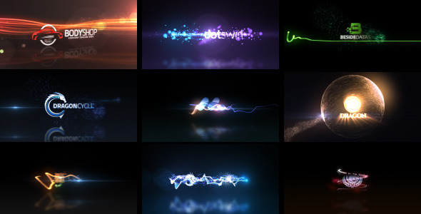 VideoHive Quick Logo Sting Pack 04 Glowing Particles 7489265
