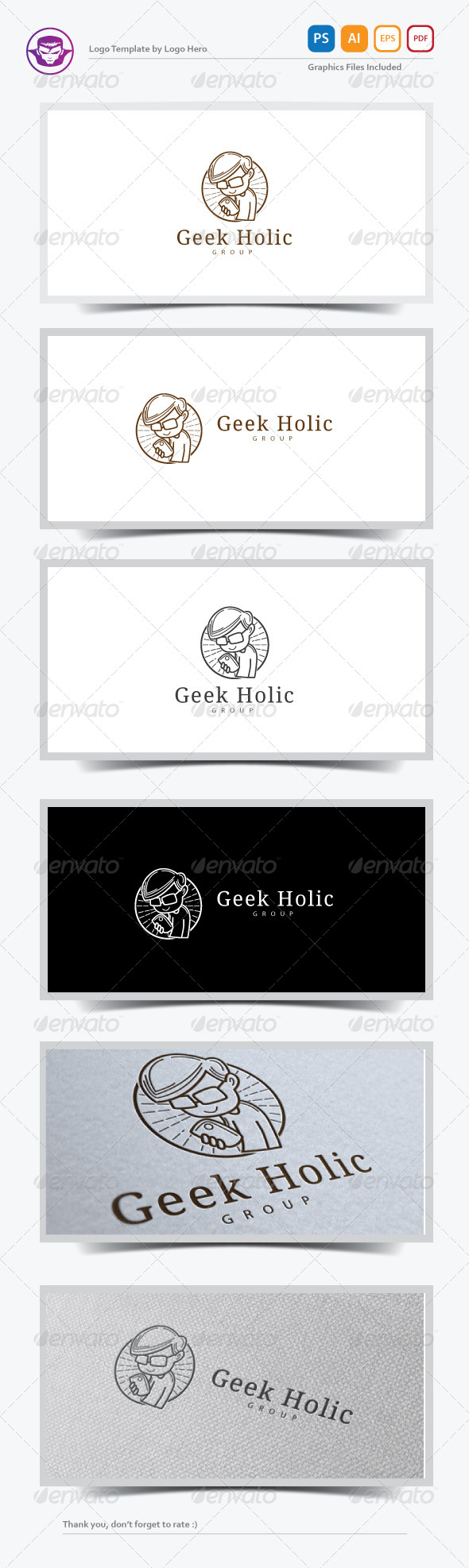 GraphicRiver Geek Holic Logo Template 7503704