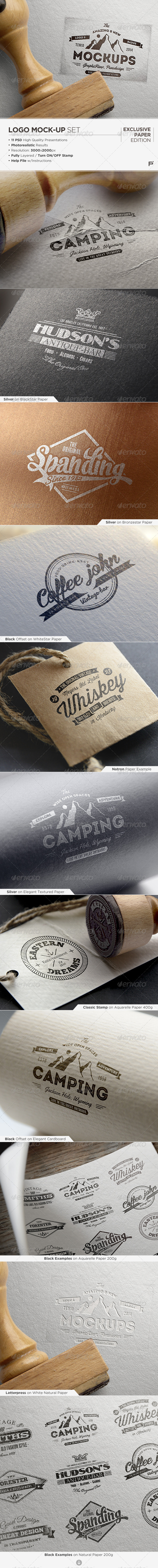GraphicRiver Logo Mock-Up Exclusive Paper Edition 7503708