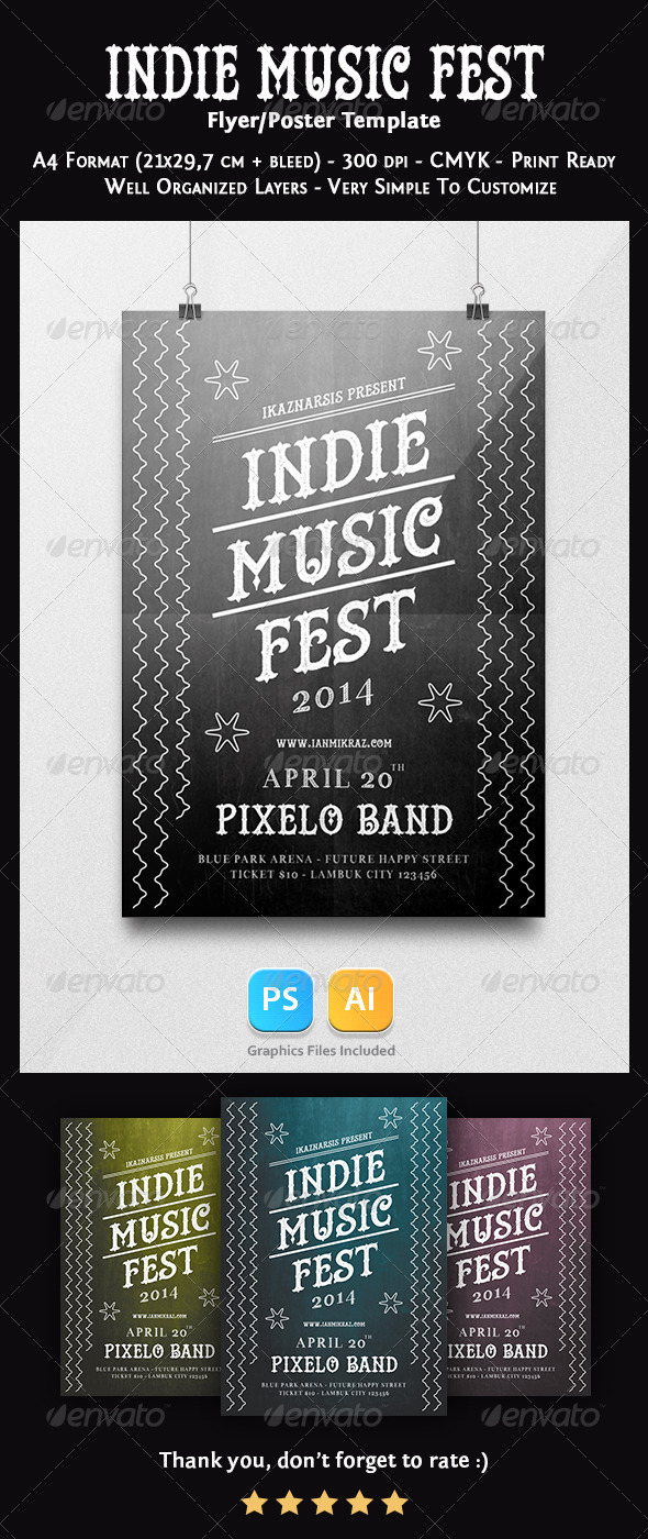 GraphicRiver Indie Music Fest Flyer Template 7503772