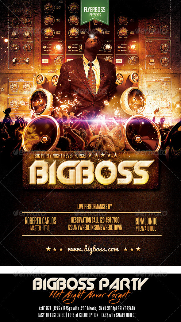 GraphicRiver Bigboss Party Flyer 7490348