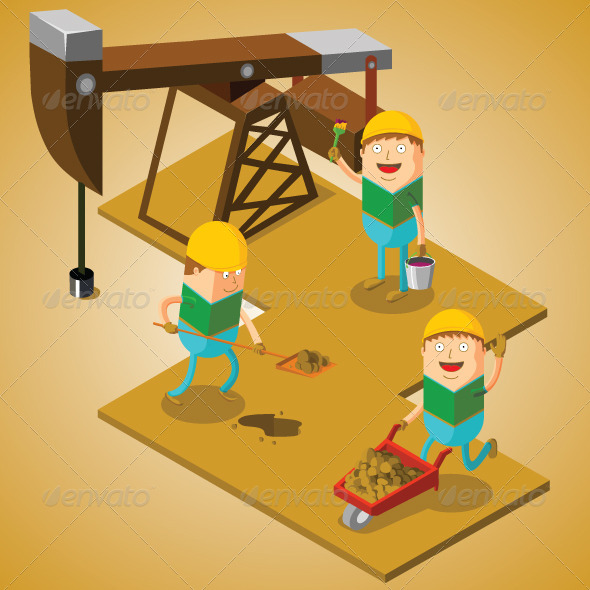 GraphicRiver Working at Oil Field 7503843