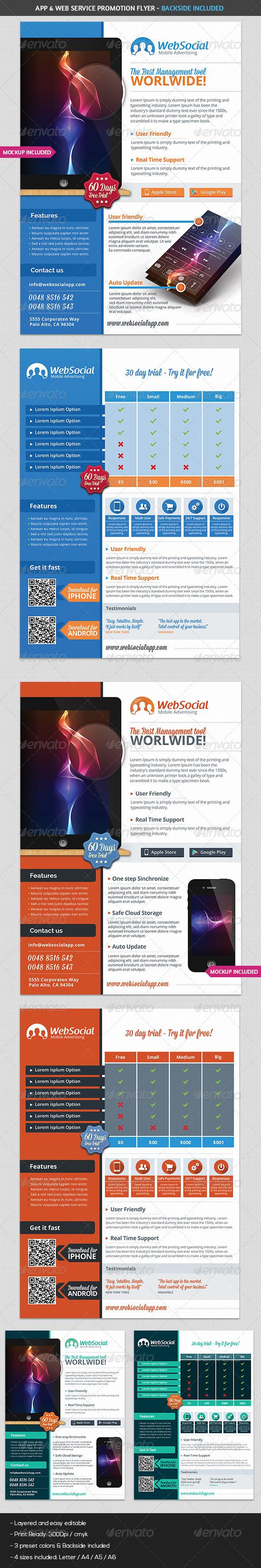 GraphicRiver App & Web Service Promotion Flyer 7503861