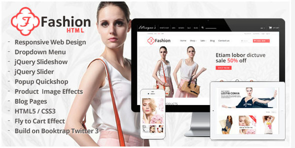 Responsive HTML Template - Fashion