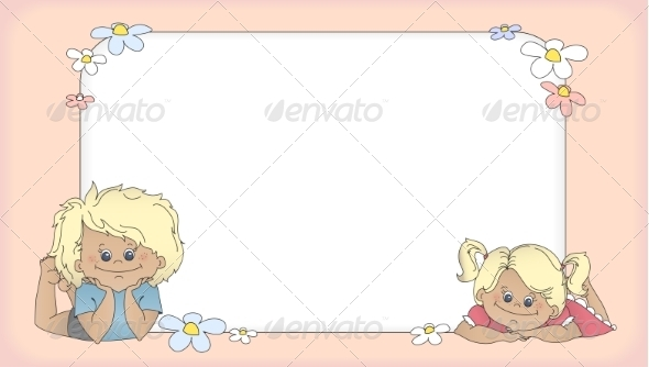 GraphicRiver Background with children template for card 7504080
