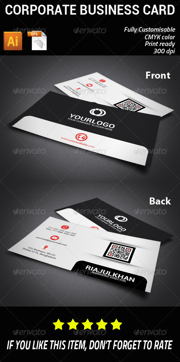 GraphicRiver Corporate Business Card 7504101