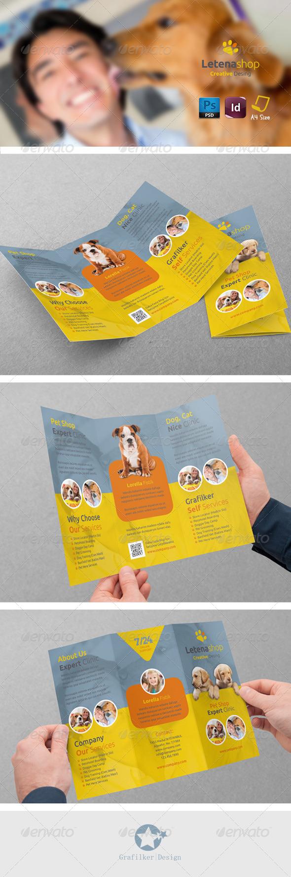 GraphicRiver Pet Shop Tri-Fold Templates 7504207
