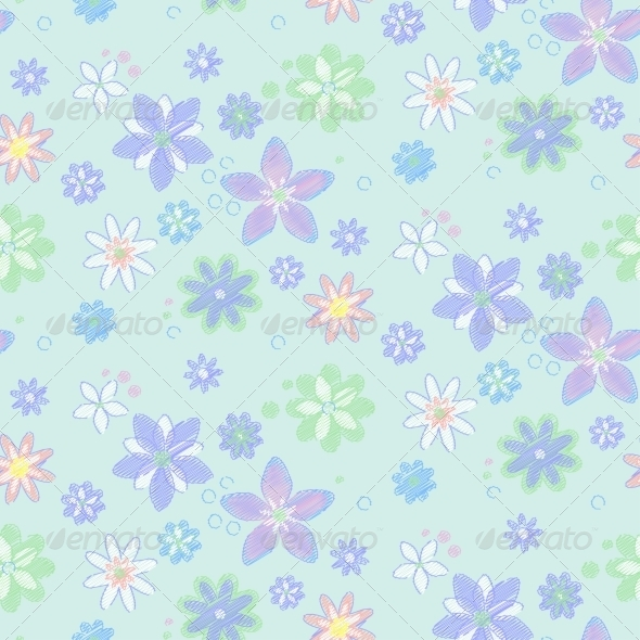 GraphicRiver Seamless Pattern with Flowers 7504255