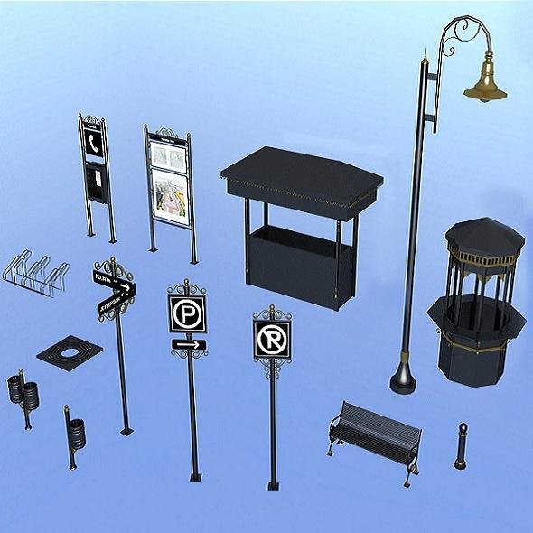 3DOcean Urban accessories 7504376
