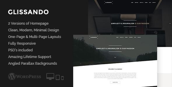 ThemeForest Glissando Creative One Page Multipurpose Theme 7504395