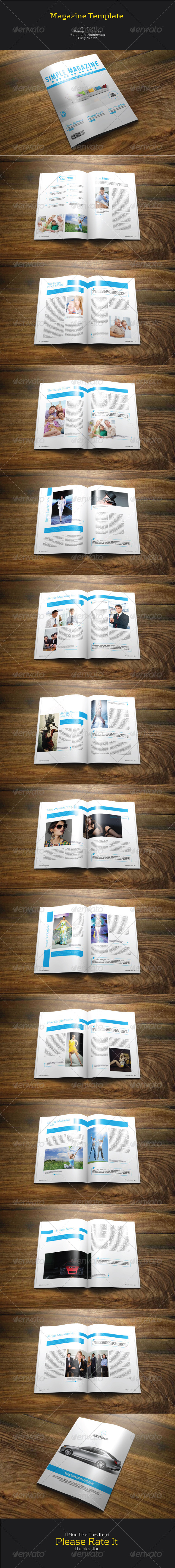 GraphicRiver Simple Magazine 7504744