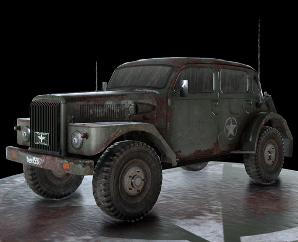 3DOcean WW2 Military Vehicle Volvo 7504938