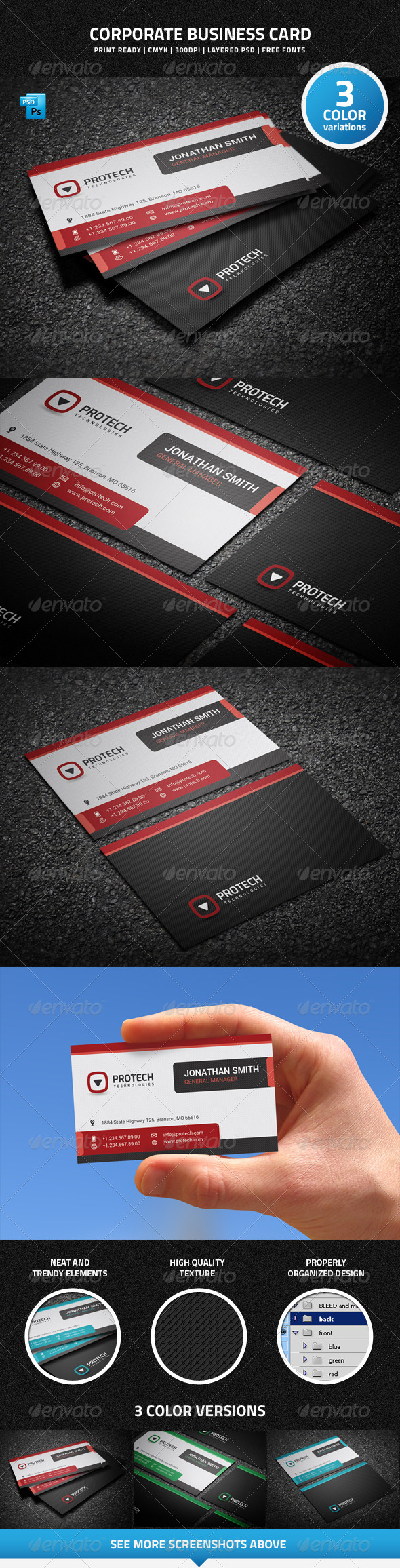 GraphicRiver Corporate Business Card 7504982