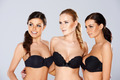 Three beautiful women modeling black lingerie - PhotoDune Item for Sale