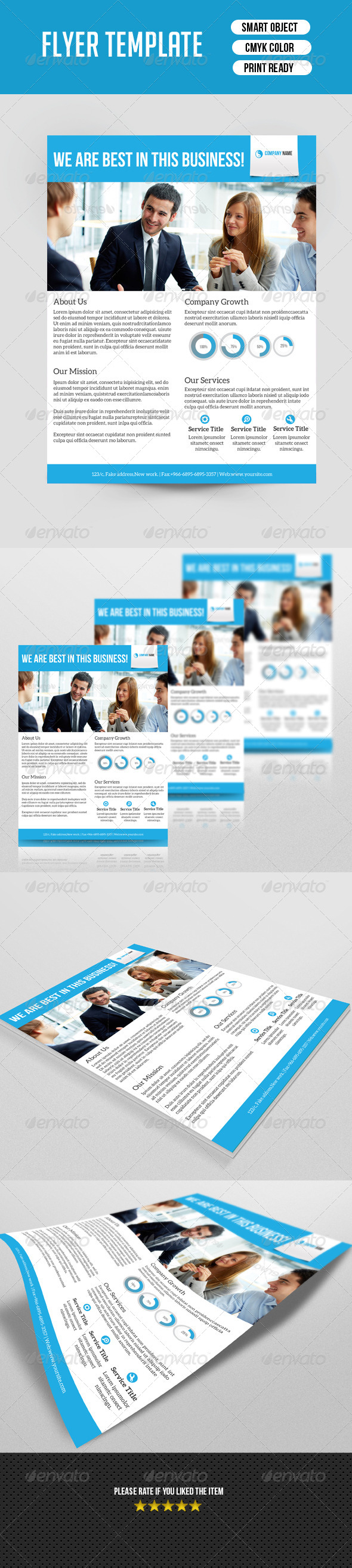 GraphicRiver Corporate Flyer Template 7505193