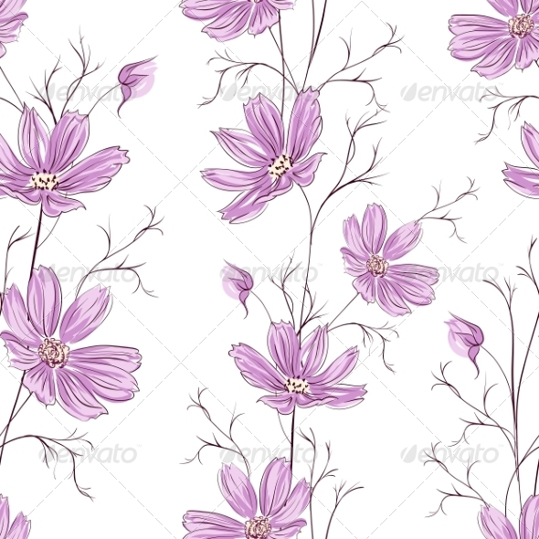 GraphicRiver Buttercup Flower Pattern 7505374