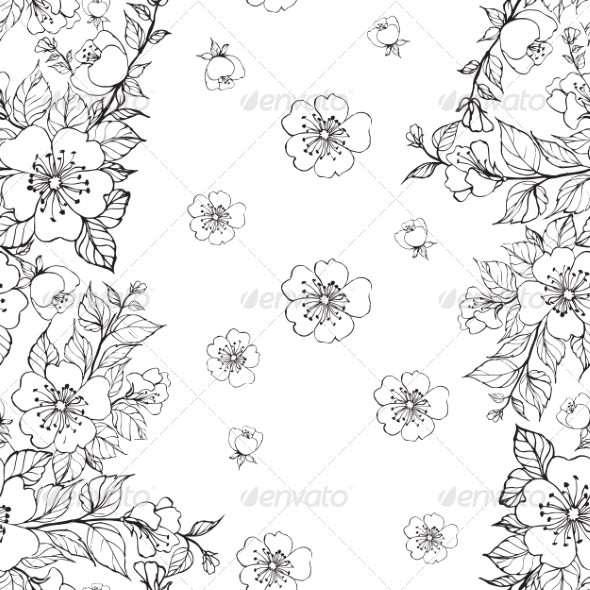 GraphicRiver Sakura Pattern 7505392