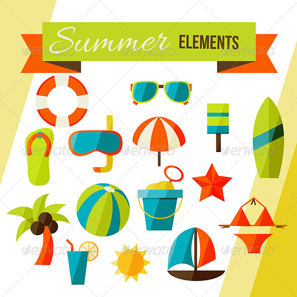 GraphicRiver Summer Elements 7505394