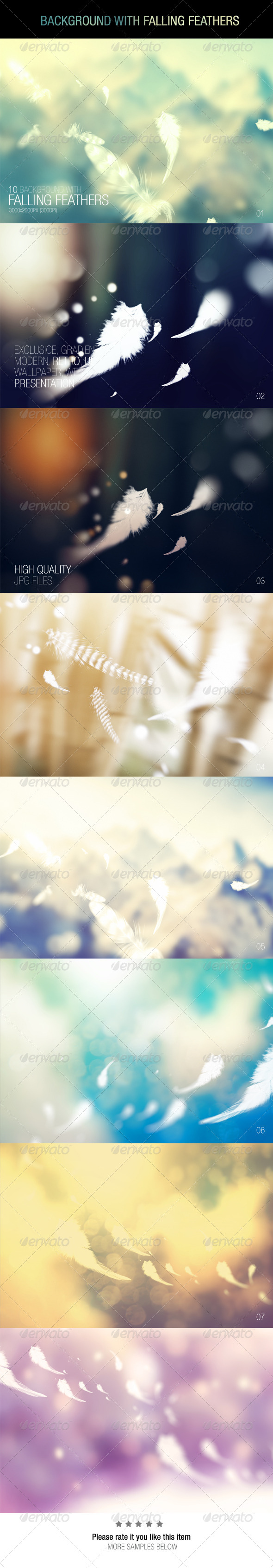 GraphicRiver Background With Falling Feathers 7505427
