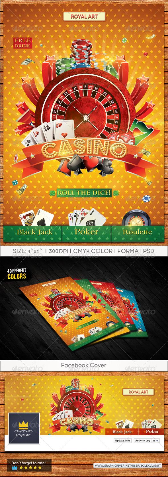 GraphicRiver Flyer Casino Night 7496973
