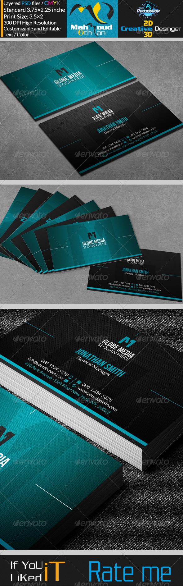 GraphicRiver Corportae Business Card V12 7505674