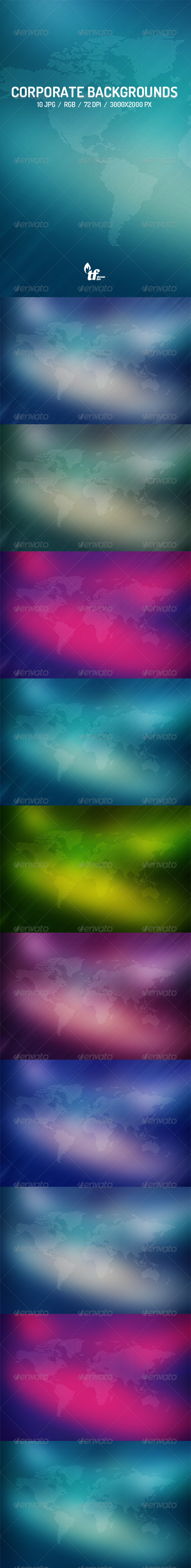 GraphicRiver 10 Corporate Business Backgrounds 7505694