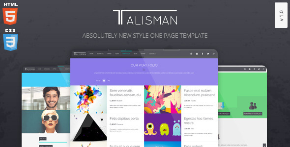 ThemeForest Talisman One Page Theme 7505701