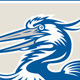 Great Blue Heron Head Shield Retro