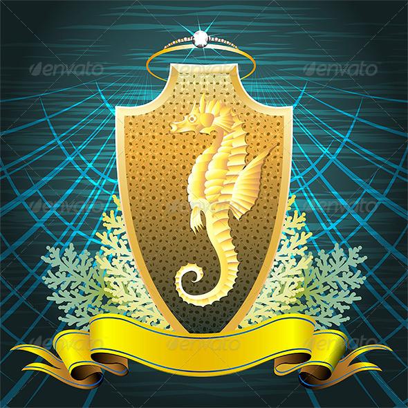 GraphicRiver The Seahorse Shield 7505750