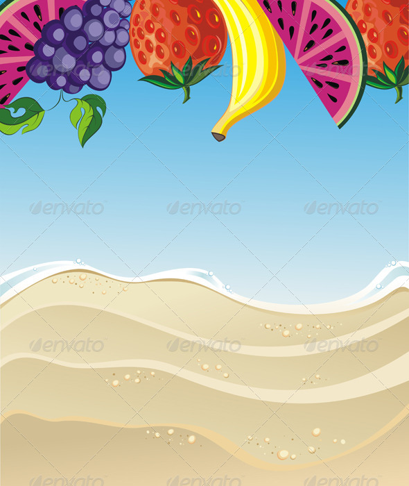 GraphicRiver Summer Illustration with Fruits 7505809