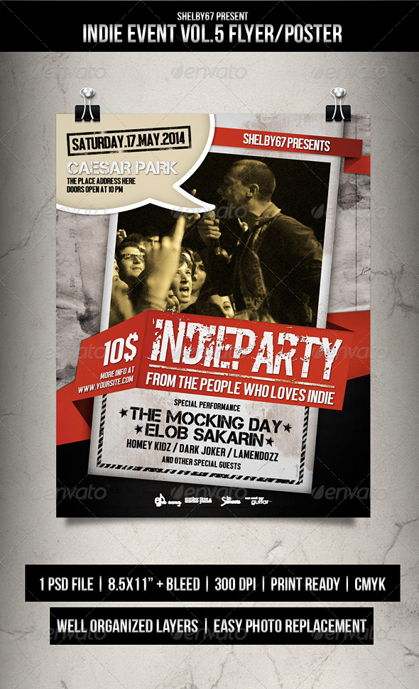 GraphicRiver Indie Event Flyer Poster Vol.5 7505839