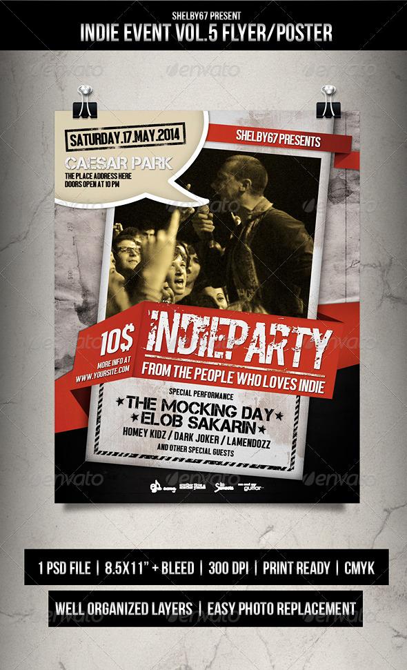 Indie Event Flyer Poster Vol.5