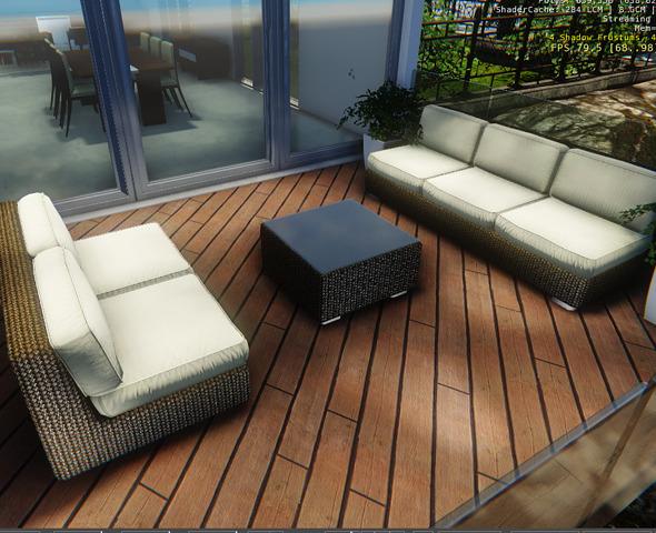 3DOcean Terrace Couches Set 7505970