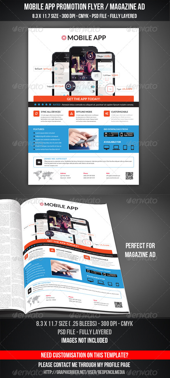 GraphicRiver Mobile App Promotion Flyer Magazine AD 7502095