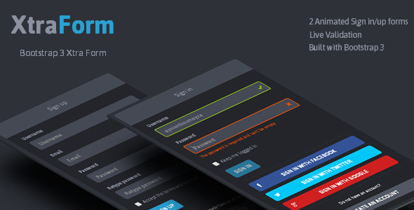 XtraForm Bootstrap 3 Xtra Animated Form